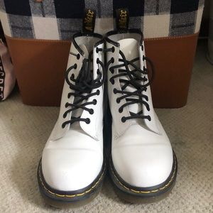 White Dr.Martens boots! Only worn a few times.